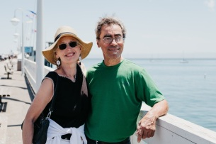 Kathy & Tony, close up on wharf, 2018